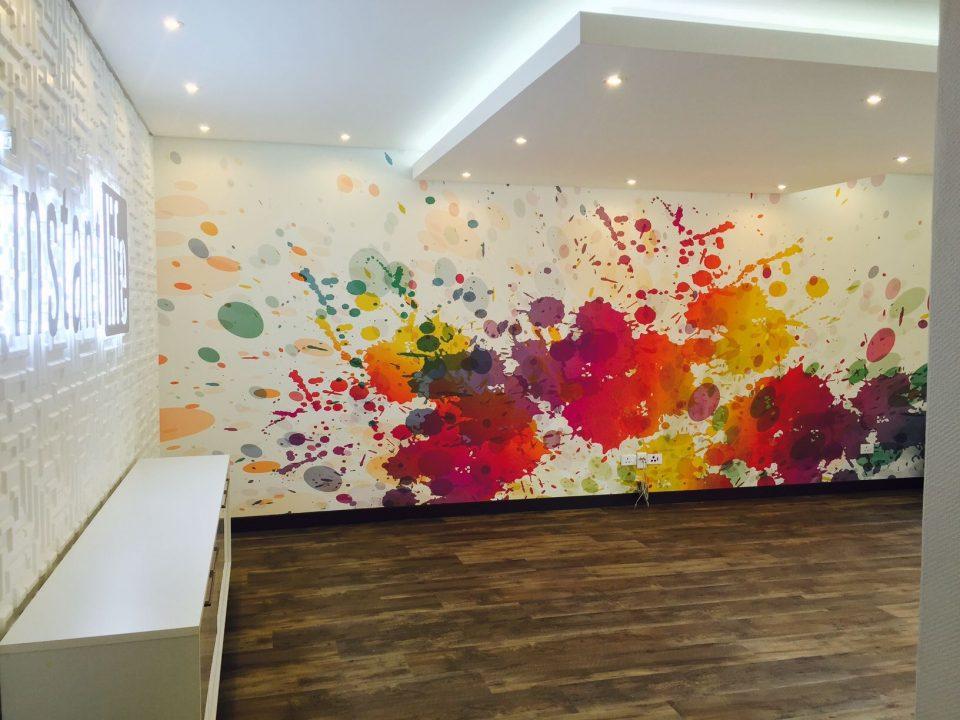 wallpaper printing and wallpaper installation